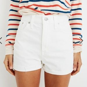 Madewell Perfect Jean Short in Tile White